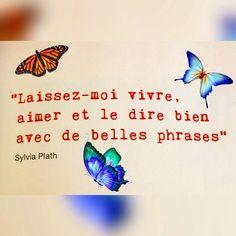 "11 mentions J'aime, 2 commentaires - LOovence (@loovence) sur Instagram: ""@flowmagazine_fr #citation #vivre #aimer #belles #phrases #flow #sylviaplath #loovence"" Sylvia Plath, Instagram Posts, Inspiration, Creativity, I Like You, Texts, Words, Biblical Inspiration, Inhalation"