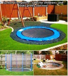 Safety trampoline