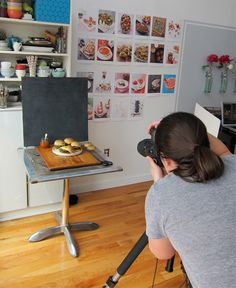 Photographing Burgers for the Cover of Breakfast for Dinner Cookbook. Behind the Scenes. Love seeing the setup! Not fancy at all.