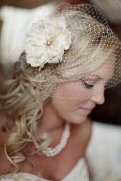 wedding hair & hair piece!