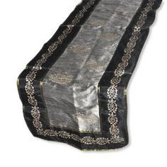 DakshCraft Chrismas Tablecloth Rectangle Shape from India Black Lace Table, Christmas Table Cloth, Lace Table Runners, Handmade Table, Rectangle Shape, Design Elements, India, Shapes, Stuff To Buy