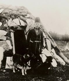 Sami man Sweden early 1900