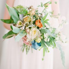 rylee hitchner photography, joy thigpen styling: tropical bouquet wedding