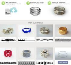 Print3d World: Diseña tu propio anillo impreso en 3D con la nueva aplicación de Shapeways