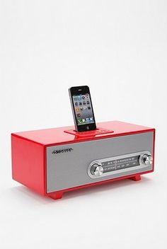 Red retro iHome