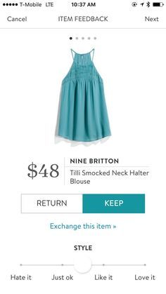 Nine Britton Tilli Smocked Neck Halter Blouse Prom Dresses, Summer Dresses, Formal Dresses, Stitch Fix Outfits, Smocking, My Style, Blouse, Clothes, Group