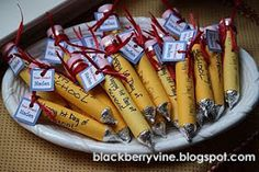 Make these Back to School Pencil Treats for your kids.  Tag each pencil with name tags.
