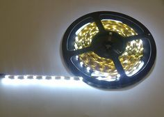 White Flexible LED strip 0.5m £6.50 5m reel £30
