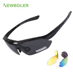 495805cee98f NEWBOLER Polarized Cycling Glasses 3 Lenses Outdoor Sport Glasses Man Women  Bicycle Sunglasses MTB Road Bike Eyewear Protective-in Cycling Eyewear from  ...