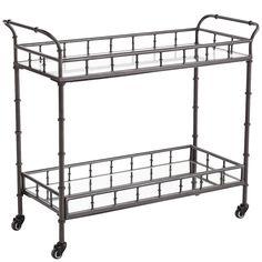 Lucette Bar Cart - Gunmetal