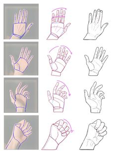drawing hands step by step * drawing hands - drawing. Drawing Lessons, Drawing Techniques, Drawing Tips, Drawing Poses, Hand Drawing Reference, Drawing Hands, Art Reference Poses, Anatomy Drawing, Anatomy Art