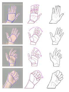drawing hands step by step * drawing hands - drawing. Hand Drawing Reference, Drawing Hands, Art Reference Poses, Drawing Eyes, Line Drawing, Basic Drawing, Anatomy Sketches, Anatomy Art, Anatomy Drawing