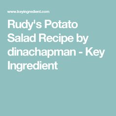 This potato salad recipe is fresh tasting and belongs on every plate of barbecue. Rich with mayonnaise, a slight tang from pickles and mustard, and a slight spice of. Salad Dishes, Salads, Bbq Potatoes, Gluten Free Living, Looks Yummy, Key Ingredient, Bake Sale, Salmon Recipes, Gluten Free Recipes