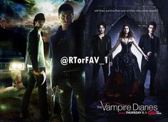 REQUESTED  RT for Supernatural  FAV for The Vampire Diaries