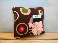 Tooth Fairy Pillow iPod holder Brown Pink by ToothFairyWorks, $18.00