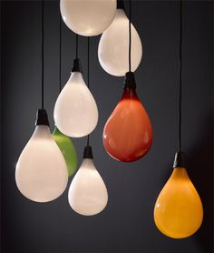 Maarten Baas adds balloon-shaped pendants to lighting range for Lasvit.