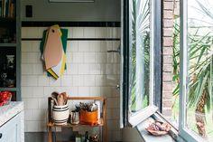Muller Van Severen cutting boards in interior designer Elise Van Thuyne's kitchen - thursdaydinners.com