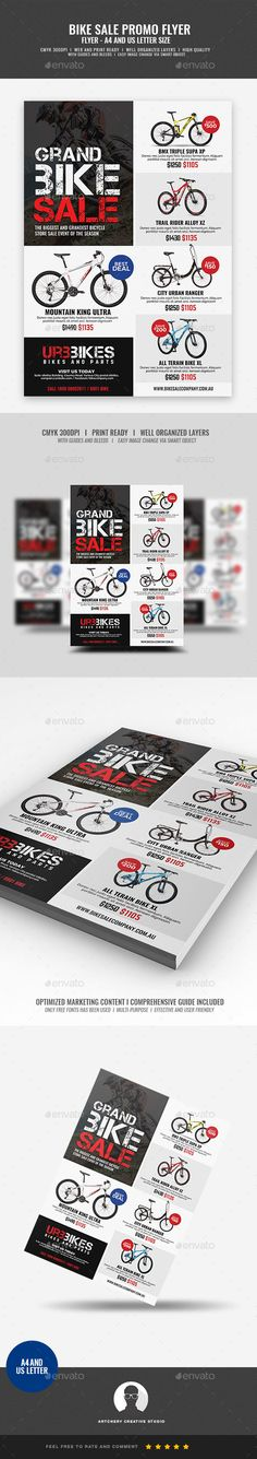 Bicycle Shop Promo Flyer Template PSD