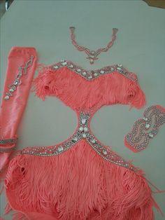 latin ballroom dress, salsa shine fringe www.crinolinatelier.it