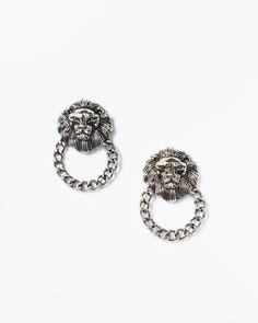 Lion Knocker Earrings