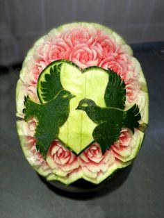 watermelon carving wedding inspiration