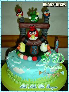 Cake Angry Birds para Santi
