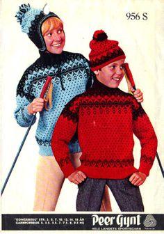 Kongsberg 956 S Vintage Knitting, Christmas Sweaters, Crochet Hats, Jumpers, Norway, Pattern, Jackets, Barn, Crafts