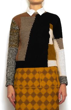 Patchwork Knit Pullover: Carven Fall 2012