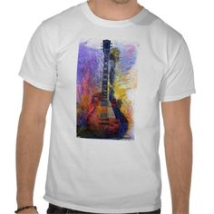 Wonderul Guitar Watercolor Art Music Tshirts #guitar #music #watercolor #shirt #art #zazzle