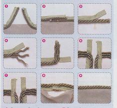 Domovnitsa: Как соединить концы шнура при окантовке подушки