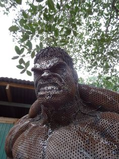 Scrap Metal Hulk by Old Steel Art