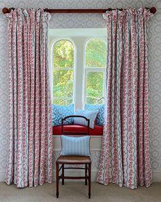 Window Dressings, English Style, Fabric Wallpaper, Somerset, Master Bedroom, Charlotte, Room Decor, Windows, Curtains