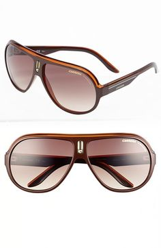 Carrera Eyewear 'Speedway' 63mm Aviator Sunglasses