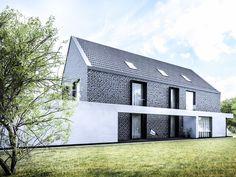 projekt nowoczesnej STODOŁY pod Wrocławiem is part of Modern house design - Residential Architecture, Contemporary Architecture, Architecture Details, Arch House, House Roof, Modern Barn, Modern Farmhouse, House Designs Ireland, Shed Homes