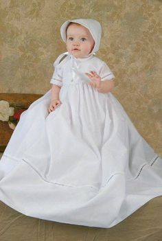 Sydney Christening Gown  With a tailored sillhouette and classic entre-deux trim, our whispery cotton family christening gowns are elegantly appropriate for any infant. Full description below.