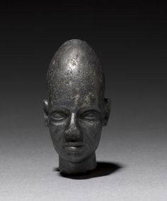 Head of Foreign God or Prince, black magnetite, Egypt or Syria, late Dynasty XVIII, circa 1320 BC - The Cleveland Museum of Art