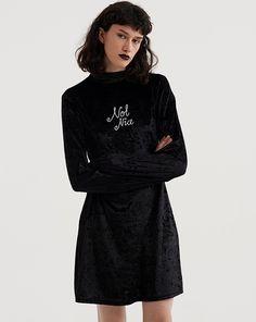 Lazy Oaf Not Nice Bell Sleeve Dress