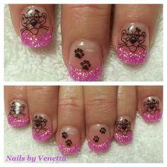 Pink Panther Acrylic Nails