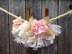 Beautiful Lace & Scrap Fabric Tutu by Cuckoo Tutus Sizes 0-24 Months Available. $17.00, via Etsy.