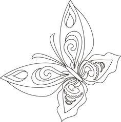 Desenhos para Pintar: Desenhos de Borboletas para Colorir