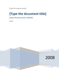 Word Documentation Cover Page Template | Project Report Template ...