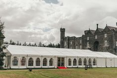Marquee Wedding in Castle Grounds - Marquee Solutions Marquee Hire, Marquee Wedding, Wedding Reception, Bar Hire, Ireland Wedding, Castle, Mansions, Luxury, House Styles