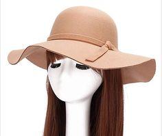 1edeab340b2 Magik Vintage Women Ladies Wide Brim Floppy Warm Wool Blend Felt Hat Trilby  Bowler Cap (2 Pack Black+Blue) at Amazon Women s Clothing store