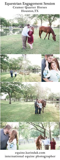 Equestrian Engagement Session at Cramer Quarter Horses in Houston,TX with Equine Photographer Karinda K.