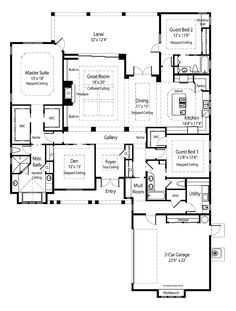 Eplans Country House Plan - Southern Classic Energy-Efficient Luxury - 2780 Square Feet and 3 Bedrooms from Eplans - House Plan Code French Country House Plans, Southern House Plans, Southern Homes, Dream House Plans, House Floor Plans, My Dream Home, Dream Homes, Dream Big, Def Not