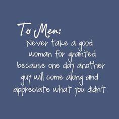 .. Men Should Take Note