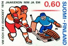 Picture of FINLAND - CIRCA stamp printed by Finland, shows Ice Hockey, circa 1974 stock photo, images and stock photography. Ice Hockey Players, Postage Stamp Art, Stamp Printing, Stamp Collecting, Framed Art Prints, Vintage, Art Posters, Link, Print Poster