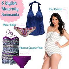 Visit WhatToExpect.com to find bump-friendly swimwear so you can feel chic on the beach.