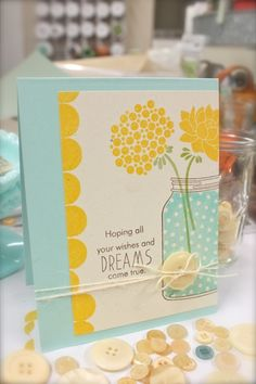 maybe if I try something cute and simple like this, I can get back my cardmaking mojo