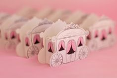 Princess Themed Birthday Party -Cute carriage favor boxes